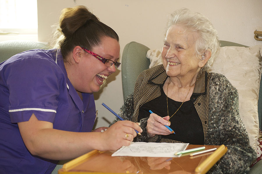 Resident and Carer Brookside Staffordshire